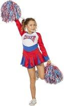 Witbaard - Kostuum - Cheerleader - Rood/wit/blauw - mt.164