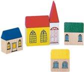 houten gebouwen 'dorp'
