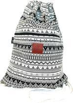 Rugtas Metric | T-Bags | 100% Katoen | 14 Liter | Zwart & Wit | Comfortabel