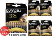 100 Stuks - Duracell LR03 / AAA / R03 / MN 2400 1.5V alkaline batterij