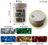 Glitter - Glitter 1mm pot 60g gold - 3 stuk