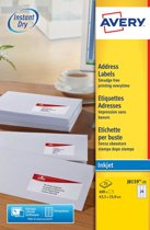 Huismerk Avery J8159-25 Inkjet Printer Etiket 63,5x33,9mm