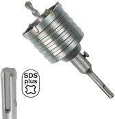 Gatenzaag 80mm elektra inbouwdoos SDS+ boor zaag voor steen