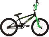 Ks Cycling Fiets 20'' freestyle-BMX Circles in zwart-groen - 28 cm