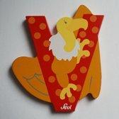 Sevi - Houten Dieren Letter V - rood