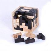 Puzzel 3D Kubus - Hout - 7x7 cm