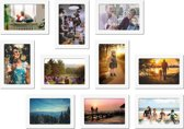 Magnetische fotolijst - foto 10x13 cm - wit - 10 stuks