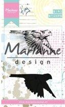 Marianne Design Cling Stempel Tinys Birds 1 MM1618