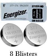 8 stuks (8 blisters a 1 stuk) Energizer 376/377 MD 1.55V knoopcel batterij