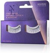 Nouveau Lashes - Strip Lashes Natural / Style 4 & lijm
