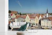 Fotobehang vinyl - Foto vanuit de lucht van het Stadshart van Tallinn breedte 540 cm x hoogte 360 cm - Foto print op behang (in 7 formaten beschikbaar)