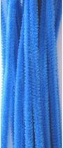Chenille blauw 6 milimeter x 30 centimeter 20st