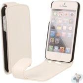 iPhone 5s Leren Flip Hoesje Business-Class Wit