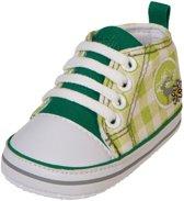 Playshoes sneakertjes geruit groen Maat: 18
