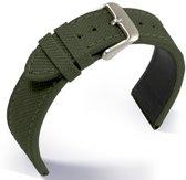 Horlogeband Canvas Olivegreen - 20mm