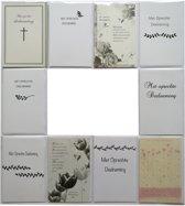 Rouwkaarten - Condoleance – Set van 10 – Met oprechte deelneming – Sterkte