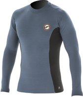 Prolimit - Zwemshirt voor heren met lange mouwen - Grijs / zwart