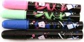 KRIJTMARKER UITWISBAAR - assorti kleuren - in etui x 4 - roze/groen/blauw/zwart