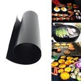 2x Antikleef Teflon Bakmat / Ovenbestendig / Ovenmat BBQ Grill Mat / Barbecuemat / Set van 2 stuks / Zwart