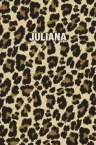 Juliana: Personalized Notebook - Leopard Print (Animal Pattern). Blank College Ruled (Lined) Journal for Notes, Journaling, Dia