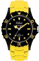 Colori Super Sports 5 COL099 Horloge - Siliconen Band - Ø 40 mm - Geel
