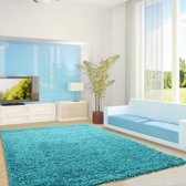Life Vloerkleed - Antalya - Rechthoek - Turquoise - Maat: 80 x 150 cm