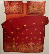 Kitan Ornament Bordeaux - dekbedovertrek  - Lits-jumeaux (240x200/220 cm + 2 slopen)