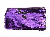 Ariane Inden Make-up Bag Purple Paillette - paars - Make-up tasje