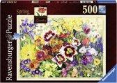Ravensburger puzzel Cottage garden in spring - Legpuzzel - 500 stukjes