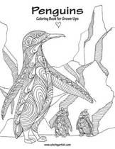 Penguins Coloring Book for Grown-Ups 1