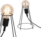 [lux.pro]® Industriële tafellamp - Sydney - zwart