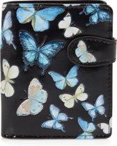 Shagwear Portemonnee - Compact Beugelportemonnee - Dames - Kunstleer - Butterfly (009846sm)