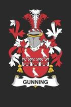 Gunning: Gunning Coat of Arms and Family Crest Notebook Journal (6 x 9 - 100 pages)