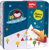 Apli Kids stickerspel by Haciendo El India, in metalen doos, ruimte