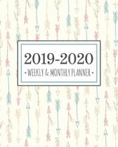 2019-2020 planner arrows: Arrows Diary Agenda Calendar Schedule Organizer - Sept 2019 through December 2020