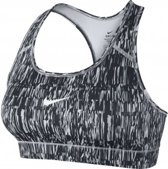 Nike Victory Compression Screen Fuzz Sports Bra - 802898-012 - Sportbeha - Dames - Zwart - Maat L
