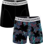 Muchachomalo - Heren 2-pack Boxershorts Zwart - L
