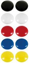 Magneet - Rond - Gekleurd - Set van 20