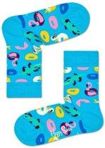 Happy Socks Kids Pool Party sokken Aqua blauw, 0-12 mnd, Maag 15/18