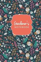 Floral Gardener's Notebook Journal Logbook And Gardening Tracker
