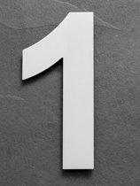Grote RVS Huisnummers | Hoogte 25cm XXL Nummer 1
