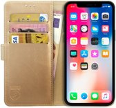 Rosso Element Apple iPhone X Hoesje Book Cover Goud
