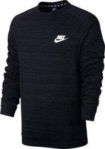 Nike Sportswear Advance 15 Crew LS Knit Sporttrui Heren - Black/Htr/White