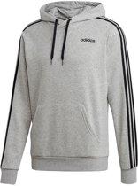 adidas Essentials 3S Po Ft Heren Trui - Medium Grey Heather/Black - Maat L