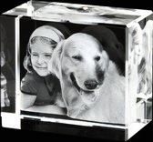 3D Foto in glas Model: Flora Afm: 100 x 70 x 60 mm