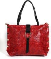 Adventure Bags Croco Tote Shopper Rood