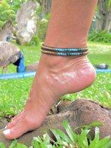 Wrap-enkelbandje Turquoise-Malachite
