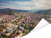 Uitzicht over de Duitse stad Freiburg Poster 80x60 cm - Foto print op Poster (wanddecoratie woonkamer / slaapkamer) / Europese steden Poster