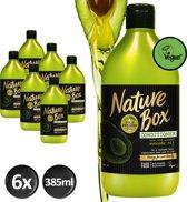 Nature Box Avocado Conditioner Vegan 385ml - 6 stuks - Voordeelverpakking