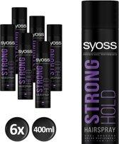 SYOSS Styling Strong Hold Haarspray 400 ml - 6 stuks - Voordeelverpakking